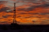 New Mexico Sunset and Oil Rig II