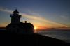 Patos Island Light House Sunset Silhouette