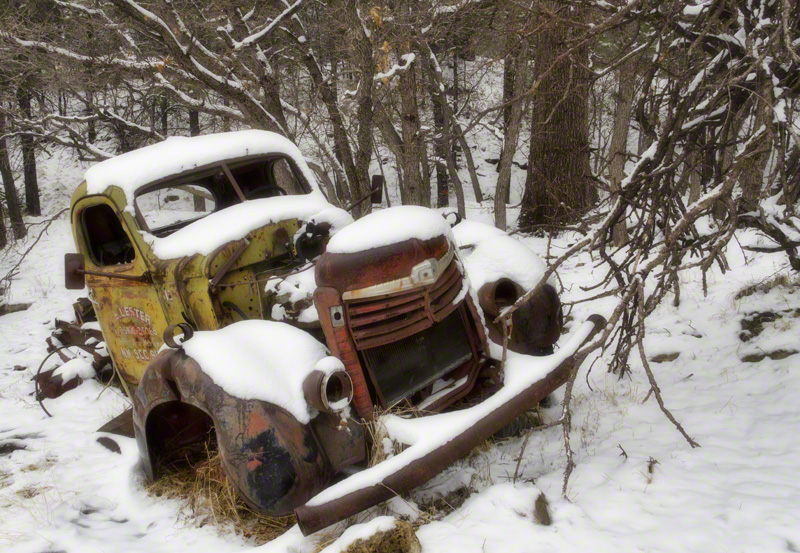 Lester\'s Truck in Snow