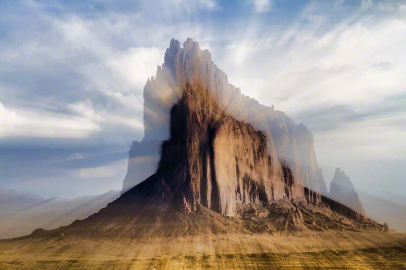Floating Shiprock; New Mexico