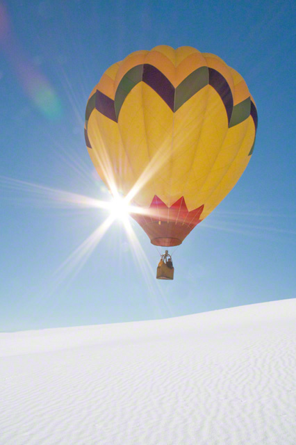 Sunny Day over White Sands