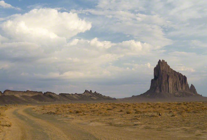 The Road to Shiprock; Shiprock; New Mexico